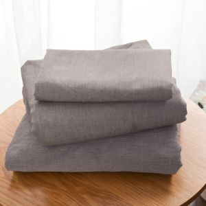 Plain flat sheet washed cotton