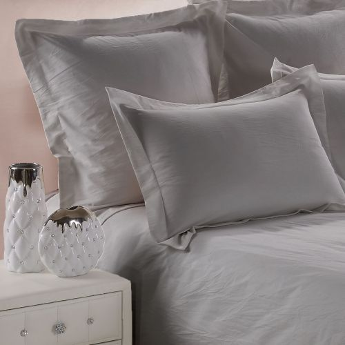 Pillowcase Washed Cotton grey | Bed linen | Tradition des Vosges