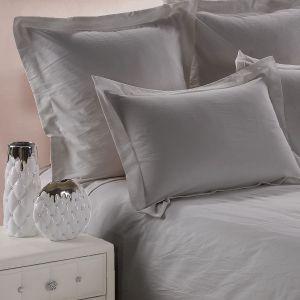 Plain pillow case washed cotton