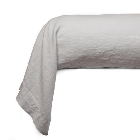 Taie Traversin Uni Coton Lave Craie