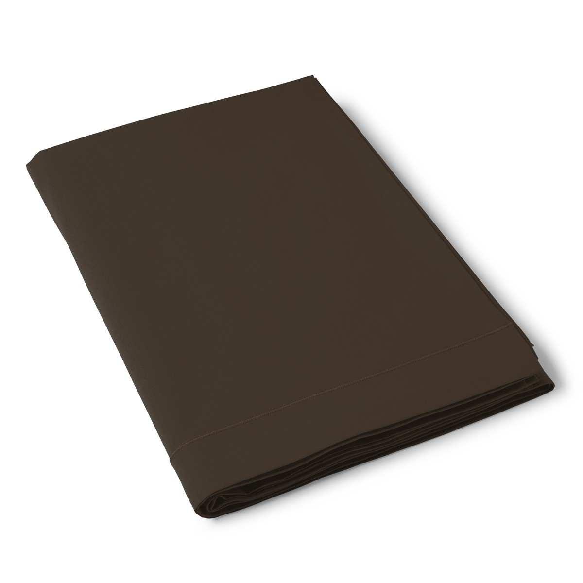 Flat Sheet Solid Color Cotton brown | Bed linen | Tradition des Vosges