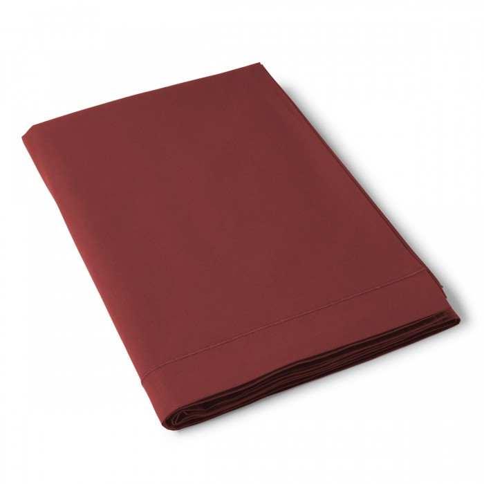 Drap Plat Uni Coton Chocolat | Linge de maison | Tradition des Vosges