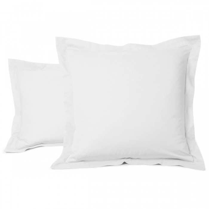 Taie Oreiller Unie Coton Blanc | Linge de lit | Tradition des vosges