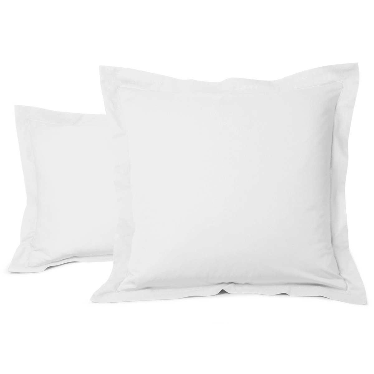 Taie Oreiller Unie Coton Blanc   Linge de lit   Tradition des vosges
