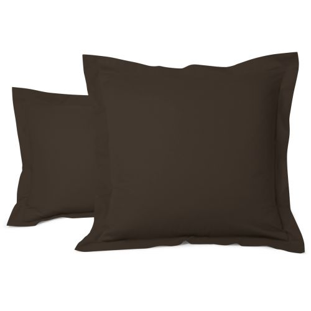 Taie Oreiller Unie Coton Chocolat | Linge de lit | Tradition des vosges