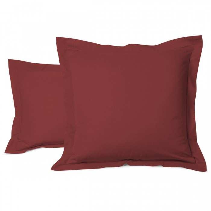 Pillowcase Solid Color Cotton brown | Bed linen | Tradition des Vosges