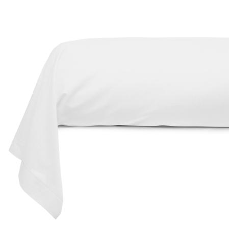 Taie Traversin Unie Coton Blanc