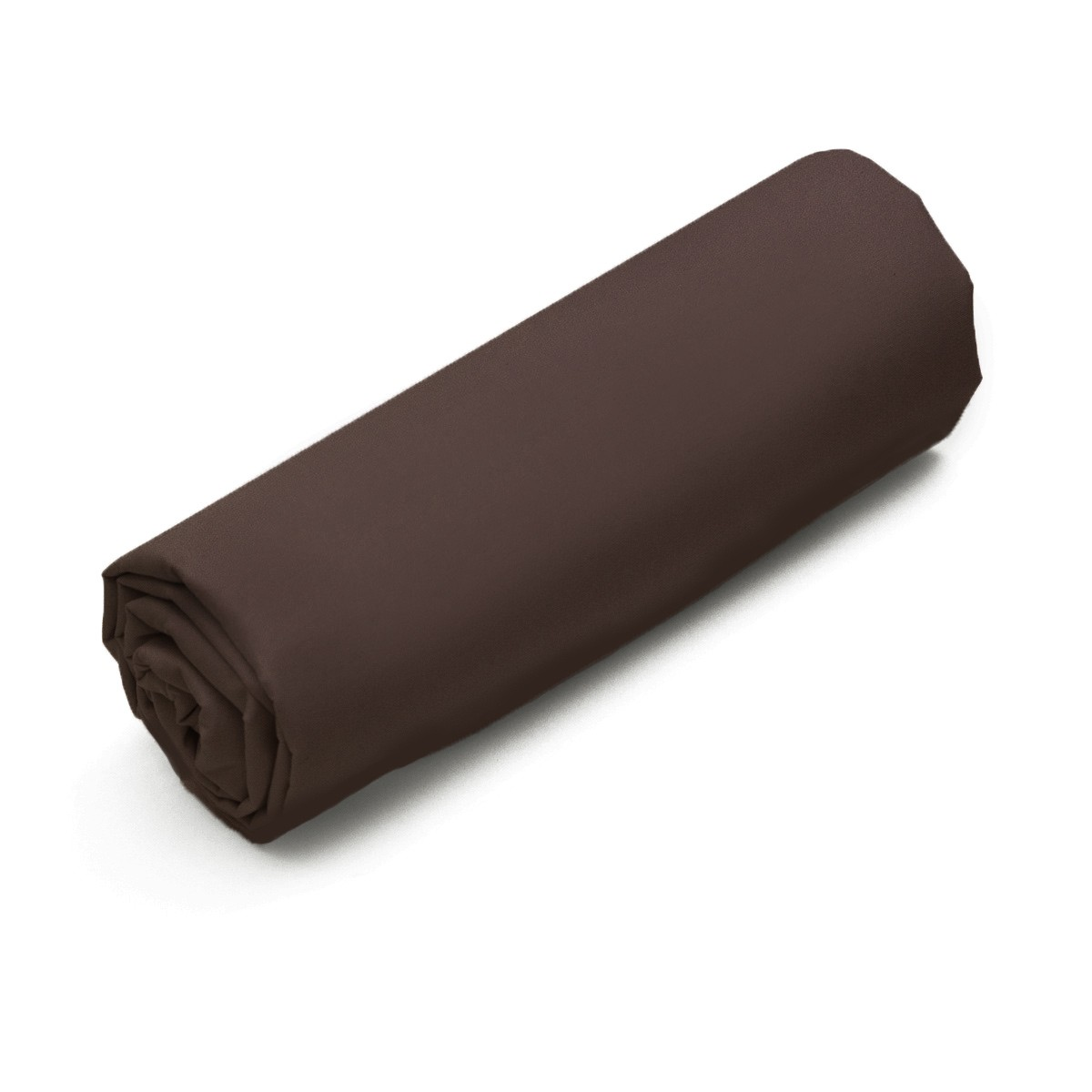 Fitted Sheet Solid Color Cotton brown | Bed linen | Tradition des Vosges