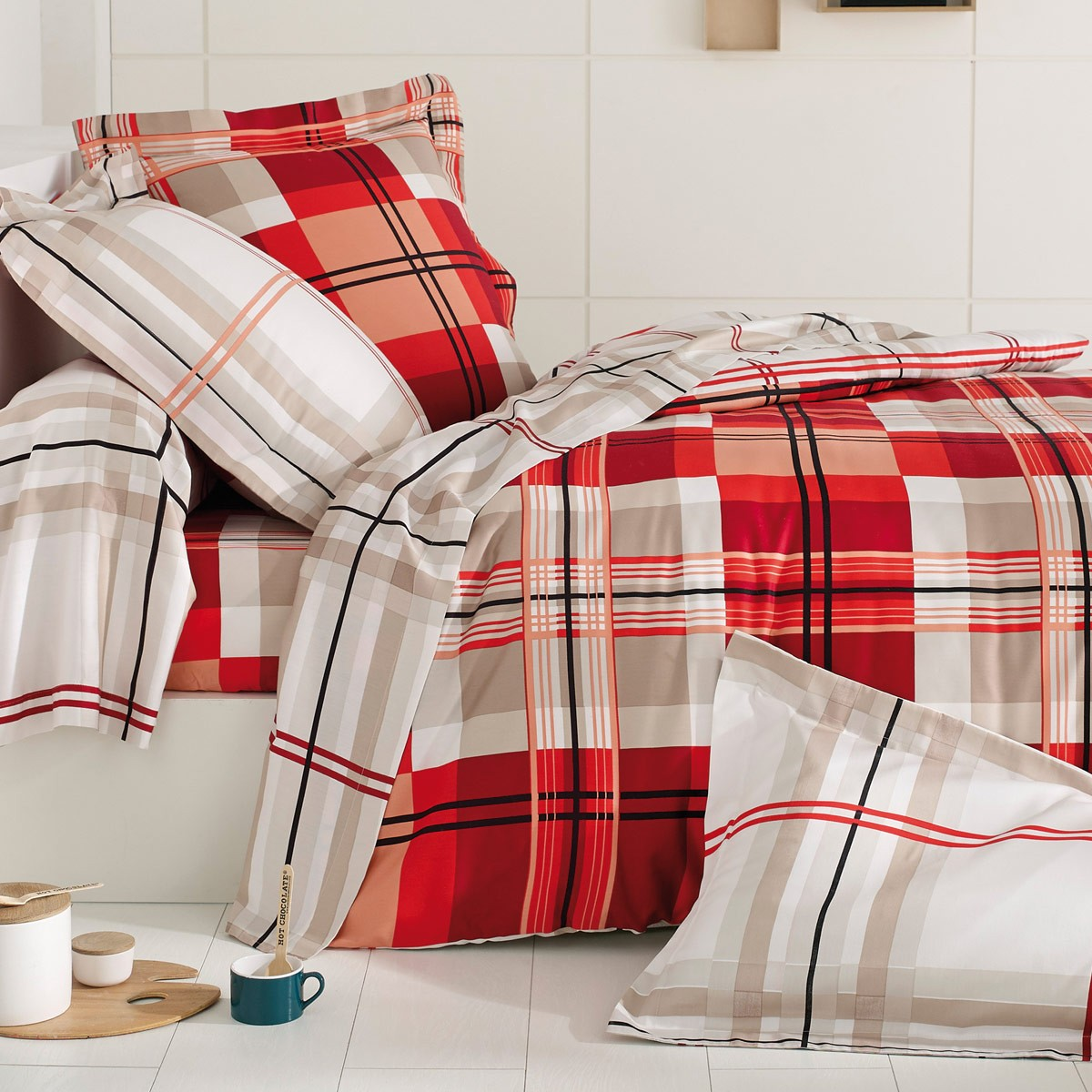 Flat Sheet Bed Set Caroline   Bed Linen   Tradition des Vosges
