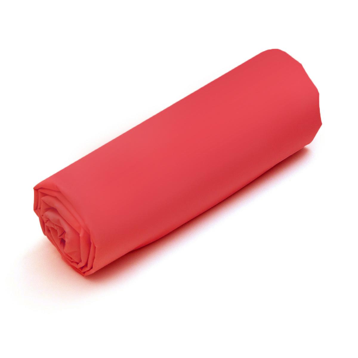 Drap-housse Double Uni Coton Rouge | Linge de maison | Tradition des vosges