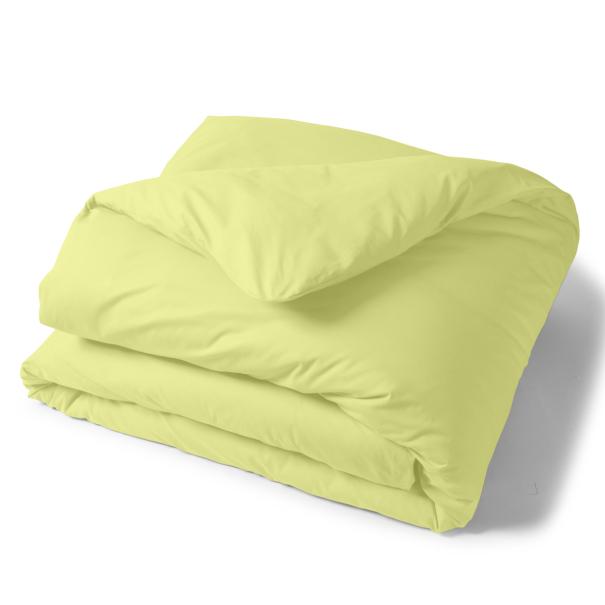 Housse Couette Unie Coton Anisette | Linge de lit uni | Tradition des vosges