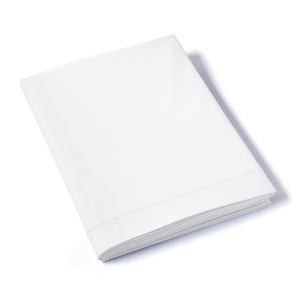 Drap Plat Uni Percale Blanc | Linge de maison | Tradition des Vosges