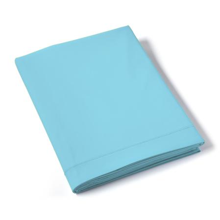Drap Plat Uni Percale Turquoise | Linge de maison | Tradition des Vosges
