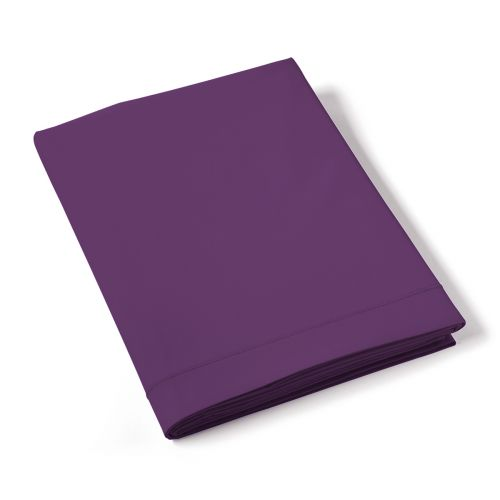 Flat Sheet Solid Color Percale purple | Bed linen | Tradition des Vosges