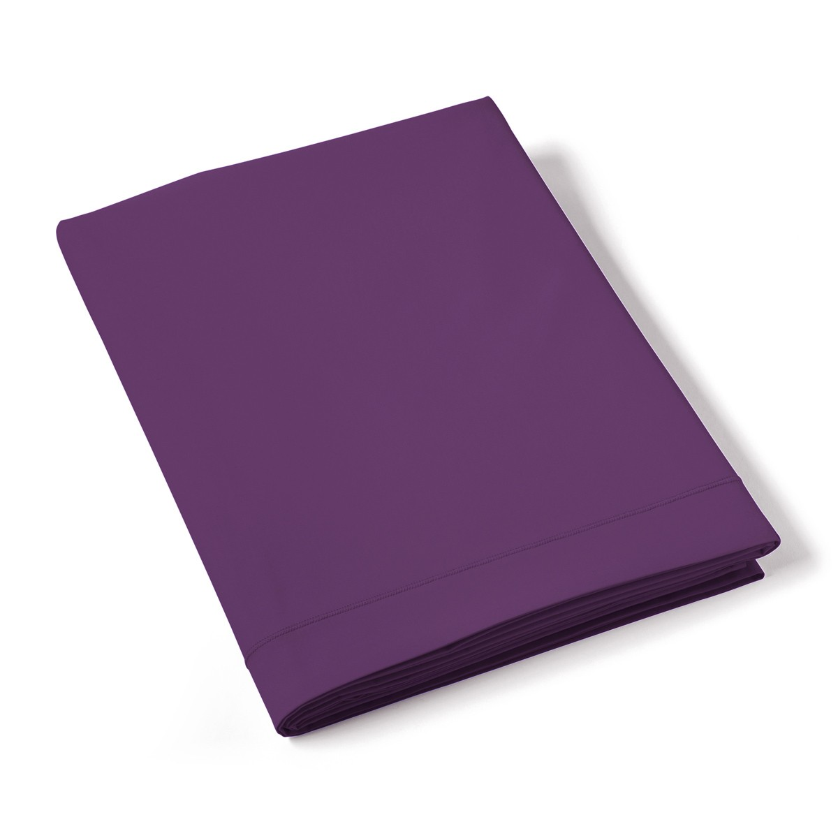 Drap Plat Uni Percale Violet | Linge de maison | Tradition des Vosges