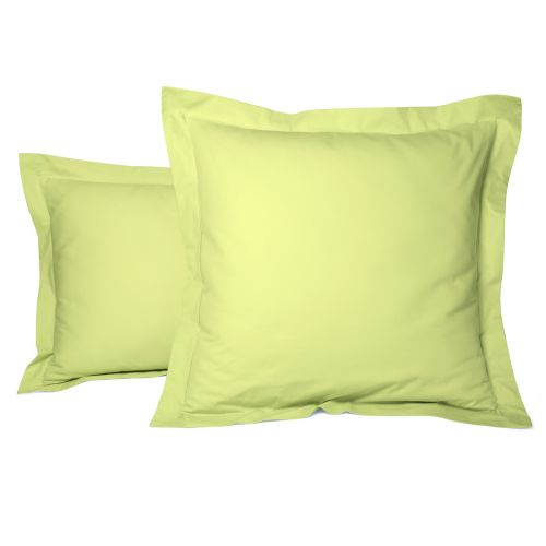 Pillowcase Solid Color Percale green | Bed linen | Tradition des Vosges