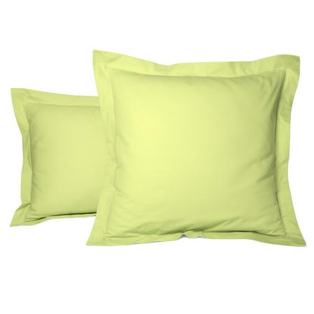 Taie Oreiller Unie Percale Anis | Linge de lit | Tradition des vosges