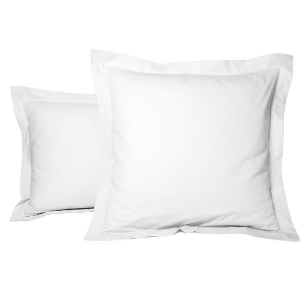 Taie Oreiller Unie Percale Blanc | Linge de lit | Tradition des vosges
