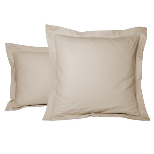 Pillowcase Solid Color Percale beige | Bed linen | Tradition des Vosges