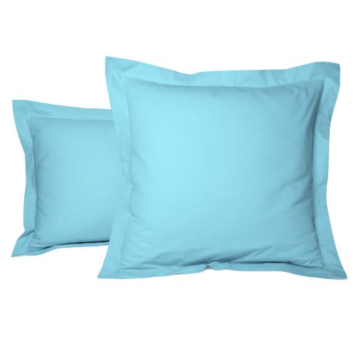 Taie Oreiller Unie Percale Turquoise