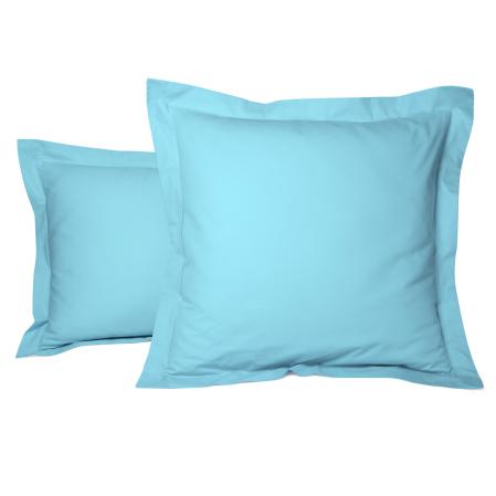 Taie Oreiller Unie Percale Turquoise | Linge de lit | Tradition des Vosges