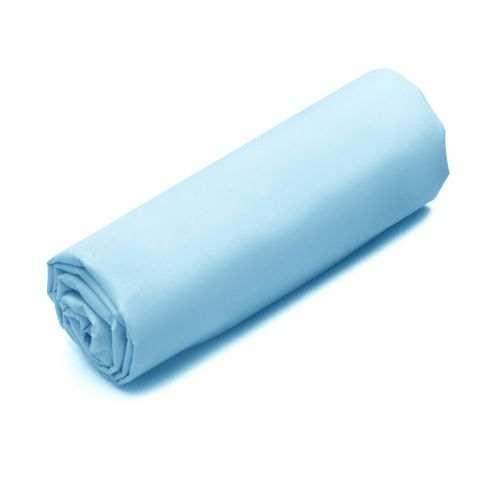 Drap-housse Double Uni Percale Turquoise | Linge de maison | Tradition des vosges