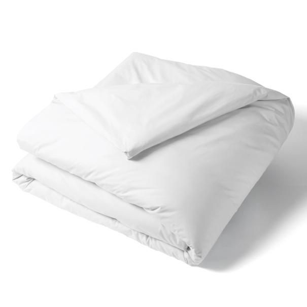 Housse Couette Unie Percale Blanc | Linge de lit uni | Tradition des vosges