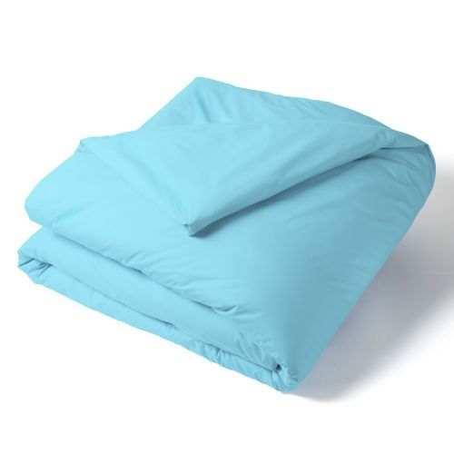 Housse Couette Unie Percale Turquoise | Linge de lit uni | Tradition des vosges