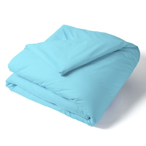Duvet Cover Solid Color Percale turquoise | Bed linen | Tradition des Vosges
