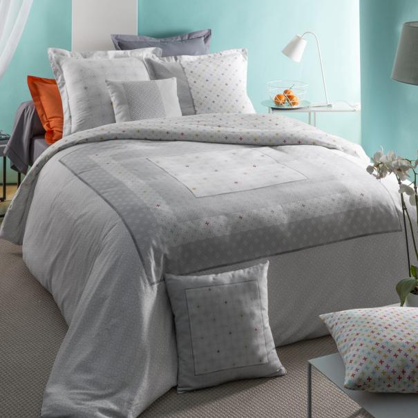 parure housse de couette aster satin de coton soldes jusqu 39 55 linge de lit de qualit. Black Bedroom Furniture Sets. Home Design Ideas