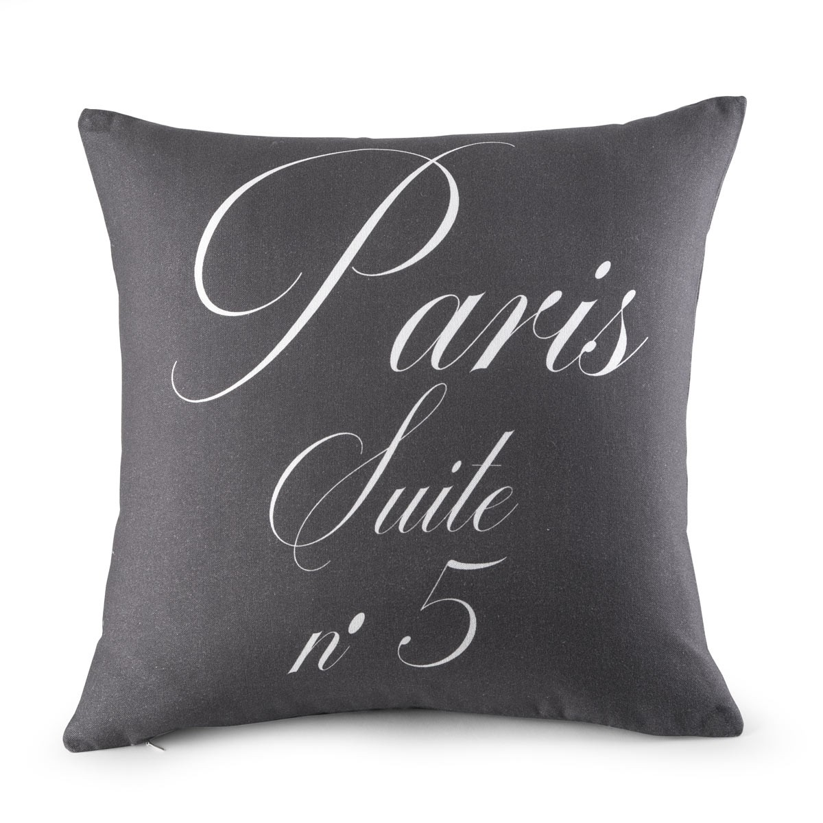housse coussin paris gris cretonne linge de maison de qualit tradition des vosges. Black Bedroom Furniture Sets. Home Design Ideas
