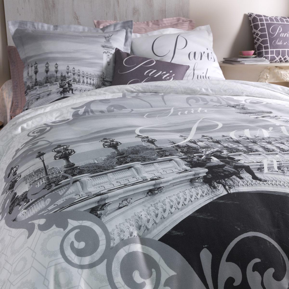 parure housse de couette paris parure de lit tradition des vosges. Black Bedroom Furniture Sets. Home Design Ideas