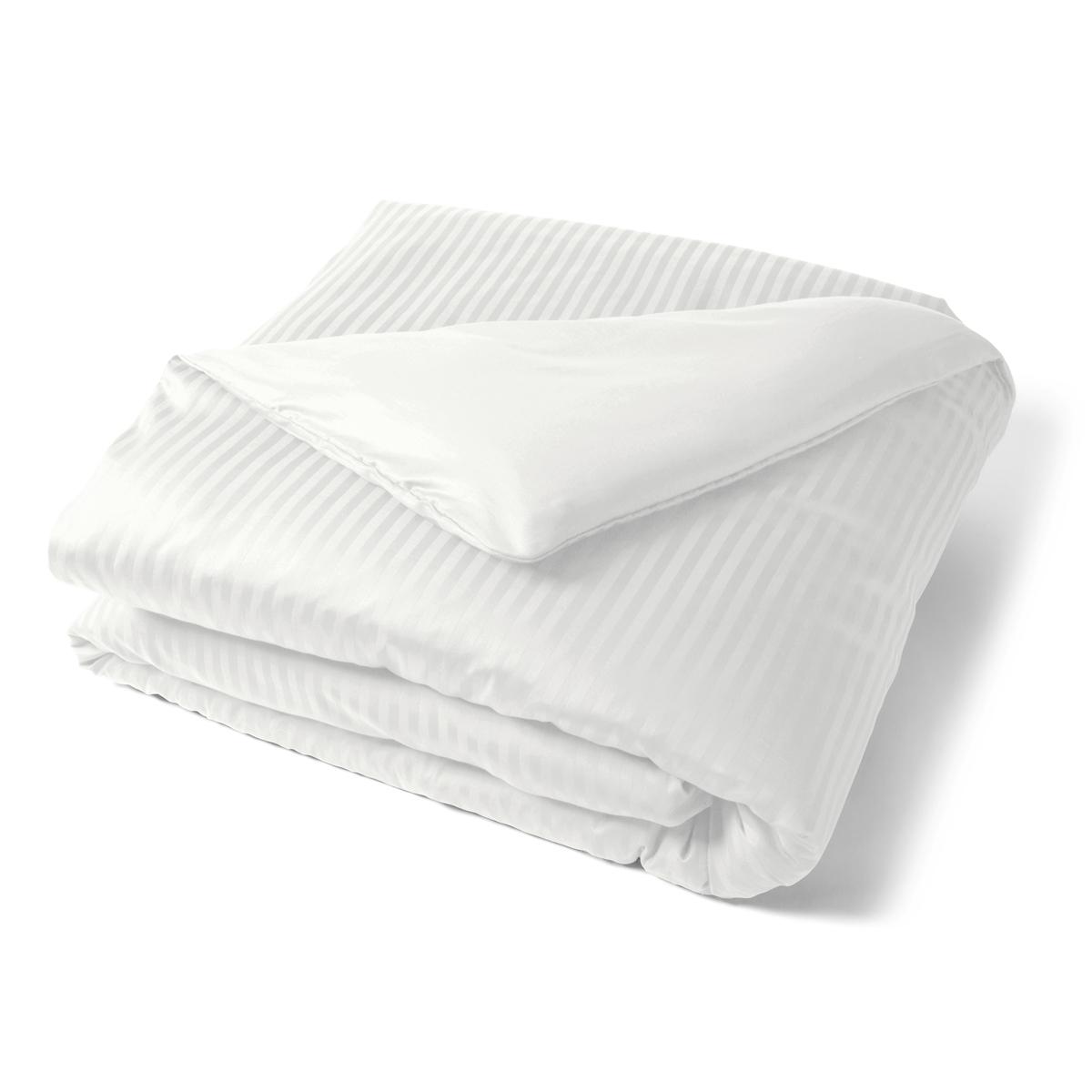 Housse de couette satin couture jour venise linge de lit for Housse couette satin