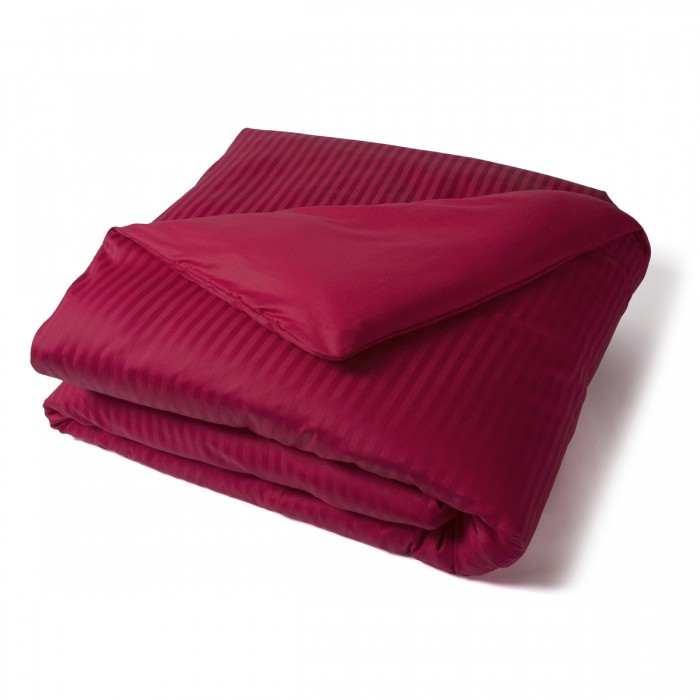 Duvet Cover Satin Couture Jour Venise burgundy | Bed linen | Tradition des Vosges