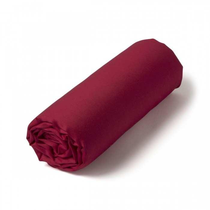 Drap-housse Satin Couture Cherry | Linge de maison | Tradition des Vosges