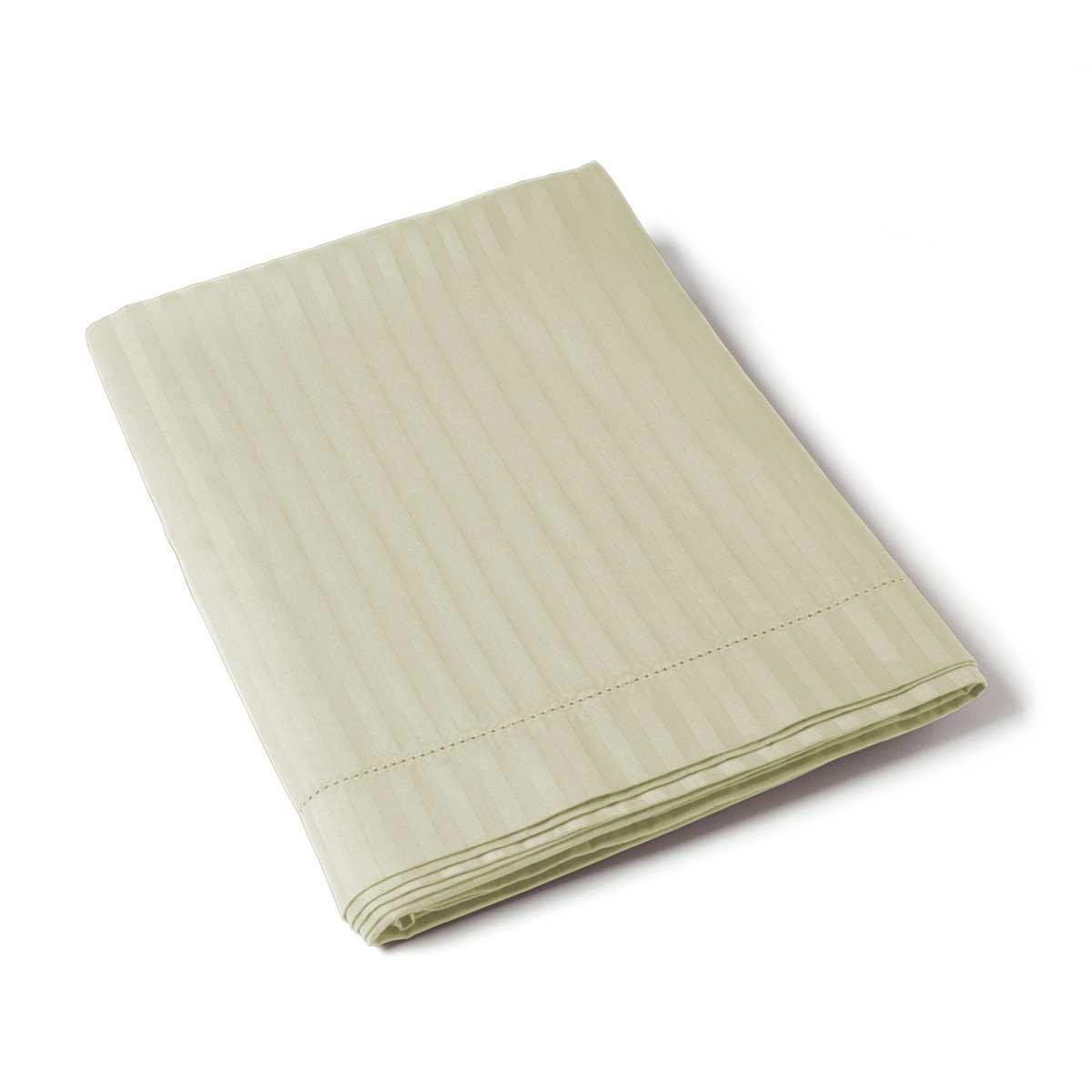 Flat Sheet Satin Couture Jour Venise ivory | Bed linen | Tradition des Vosges