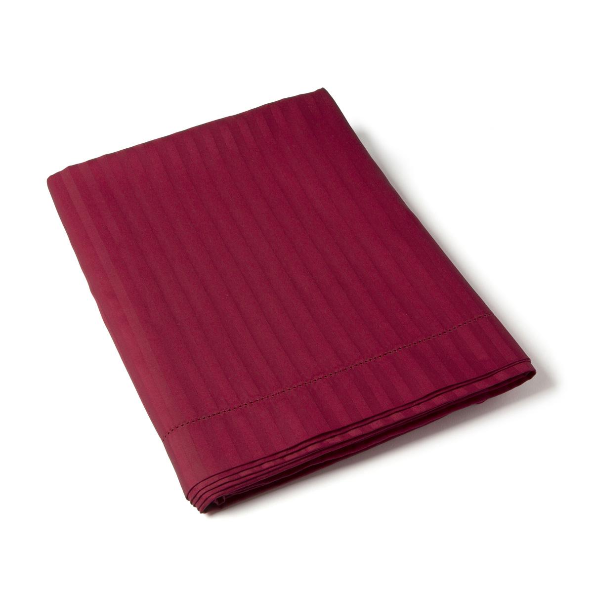Flat Sheet Satin Couture Jour Venise burgundy | Bed linen | Tradition des Vosges