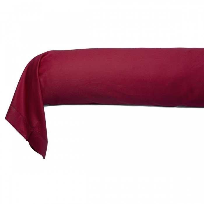 Taie Traversin Satin Couture Jour Venise Rose poudre | Linge de lit | Tradition des vosges