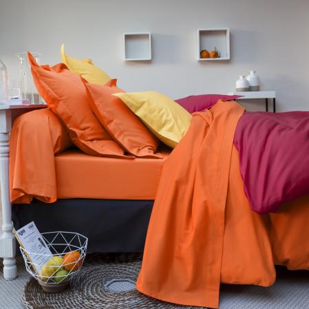 Parure Uni coton 57 fils | Bed linen | Tradition des Vosges