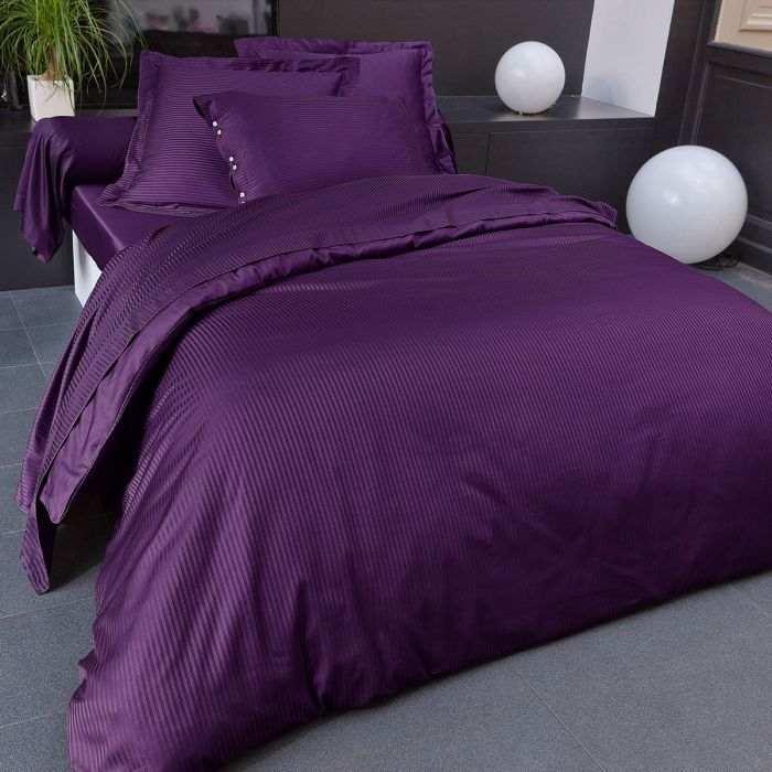 parure satin jacquard linge de lit d stockage tradition des vosges. Black Bedroom Furniture Sets. Home Design Ideas