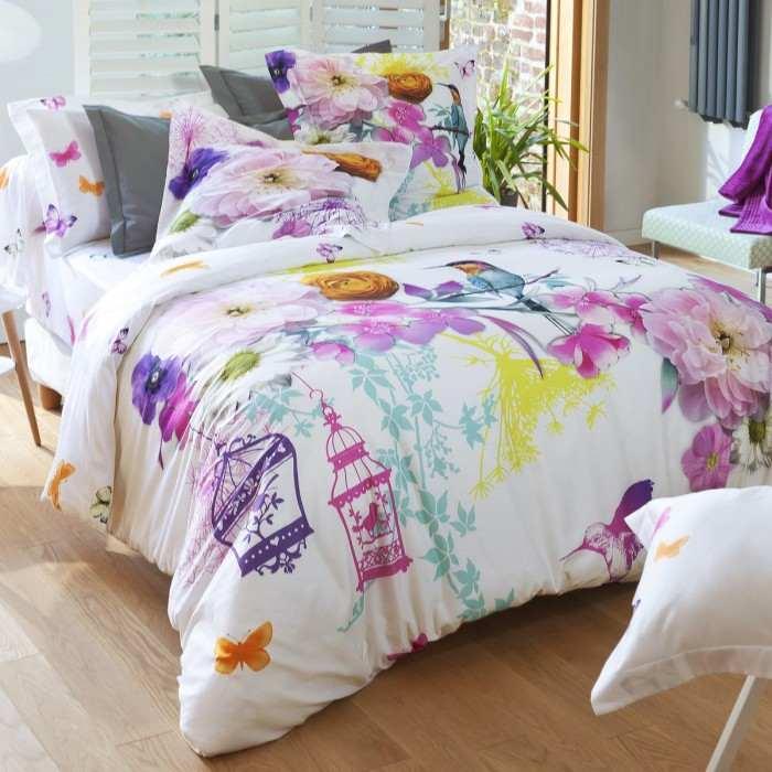 housse de couette colibri linge de lit de qualit. Black Bedroom Furniture Sets. Home Design Ideas
