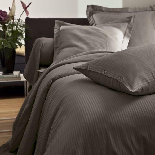 Bed linen set Satin Jacquard taupe | Bed linen | Tradition des Vosges