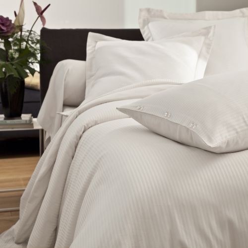 Bed linen set Satin Jacquard white | Bed linen | Tradition des Vosges
