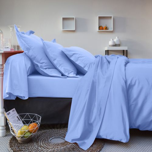 57 threads cotton bed linen set blue | Bed linen | Tradition des Vosges