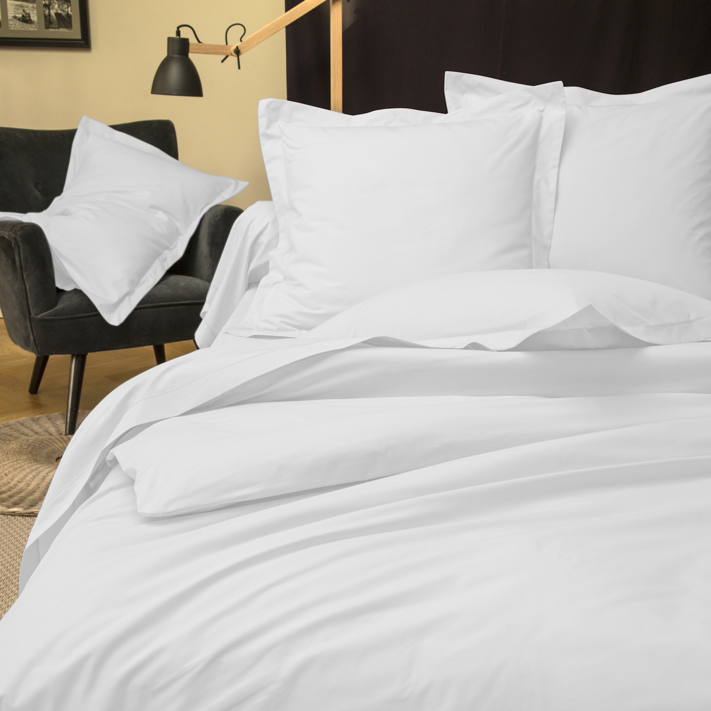 linge de lit la chambre linge de lit bicolore percale. Black Bedroom Furniture Sets. Home Design Ideas