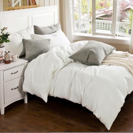 Parure Coton Lavé Blanc | Linge de maison | Tradition des vosges