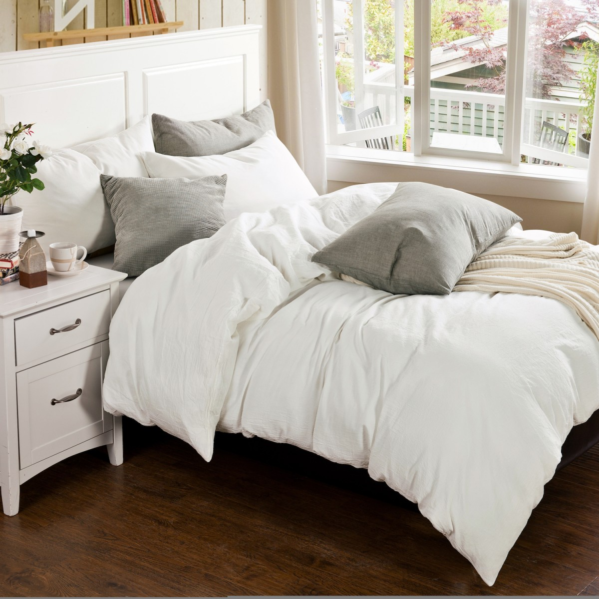 parure coton lav linge de lit de qualit tradition des vosges. Black Bedroom Furniture Sets. Home Design Ideas