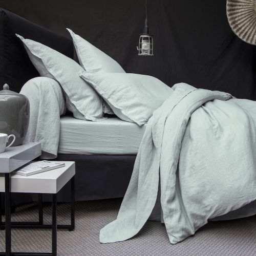 Linge de lit de qualit tradition des vosges - Parure de lit en lin lave ...