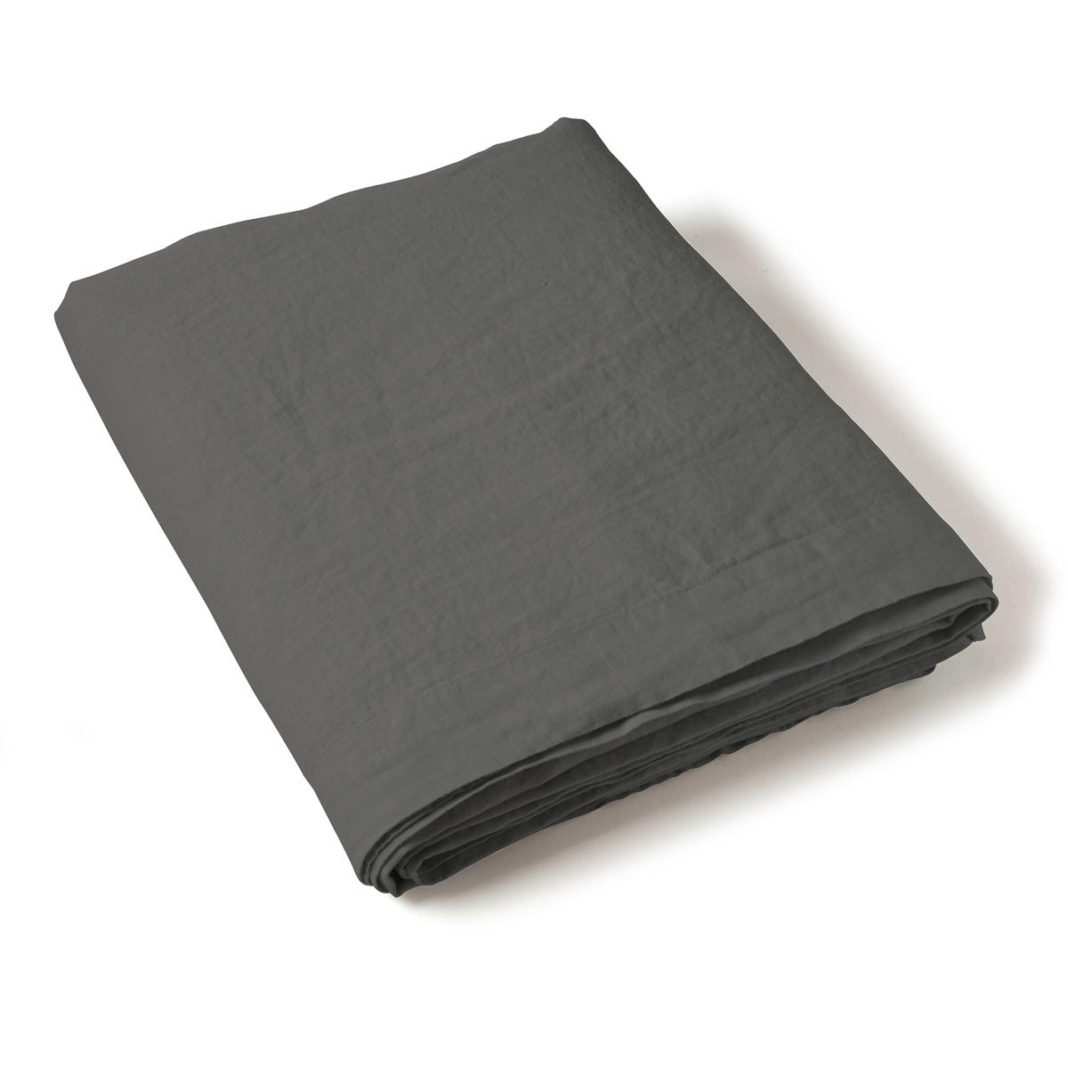 Flat Sheet Washed Linen black | Linge de lit | Tradition des Vosges