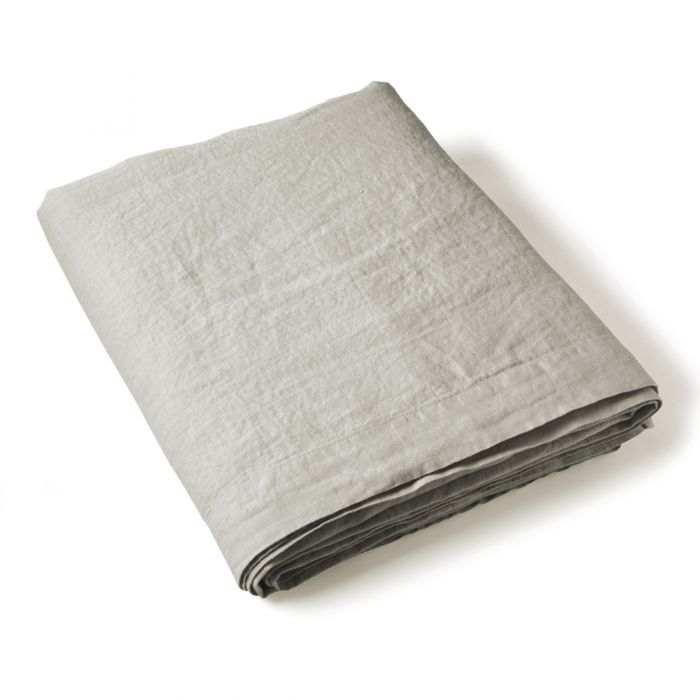 Flat Sheet Washed Linen grey | Linge de lit | Tradition des Vosges